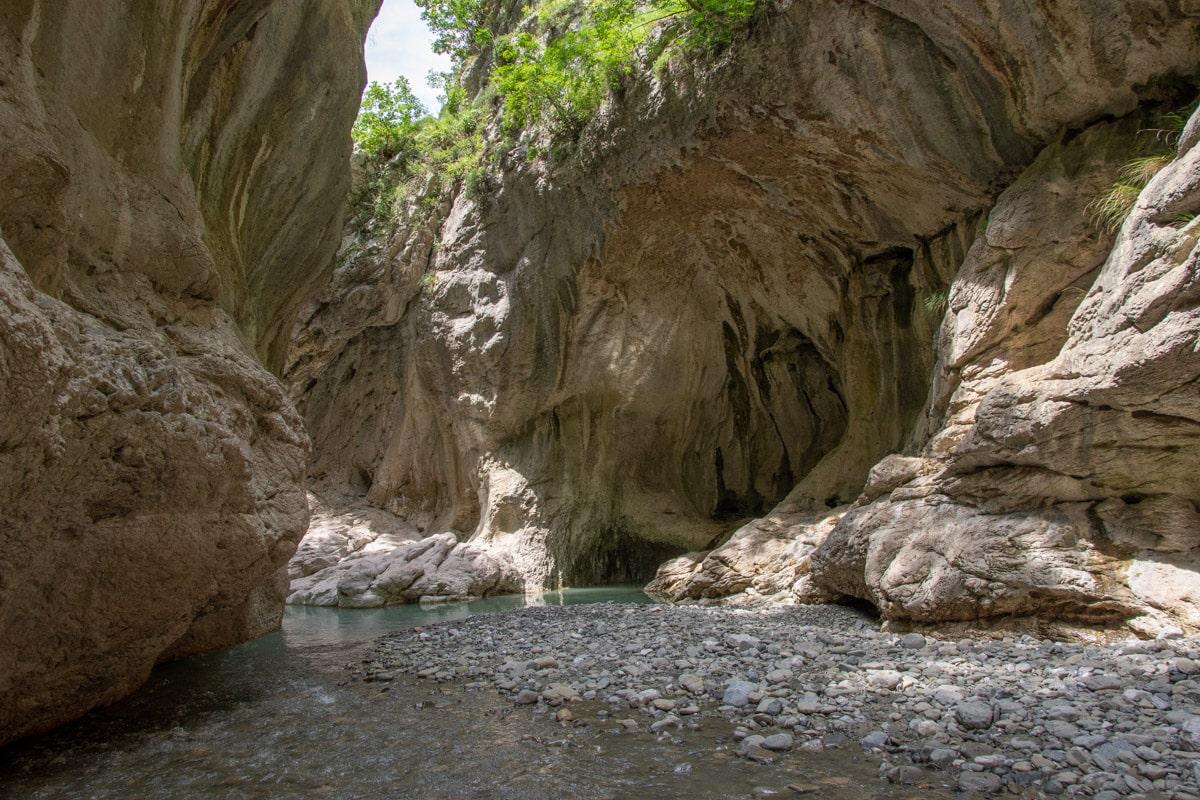 Strumień w Kanioni i Holtës