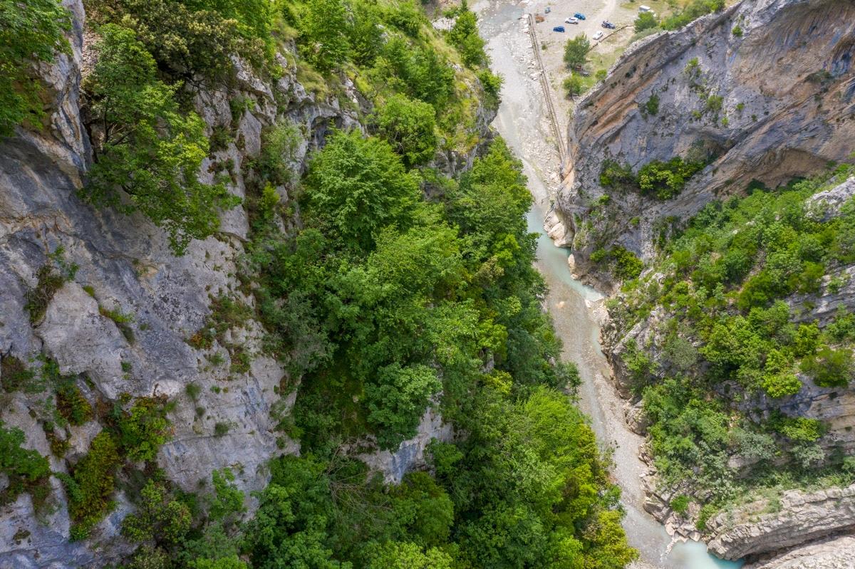 Kanioni i Holtës, dron