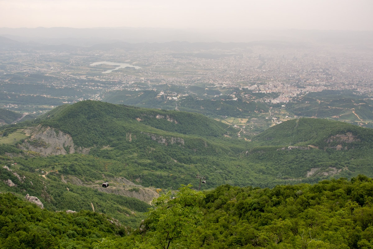 Tirana z góry Dajti