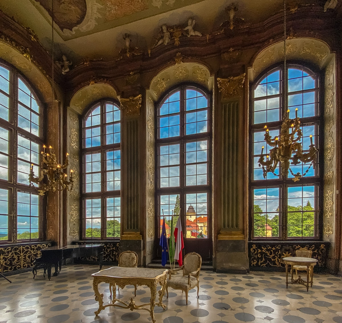 Wnętrza zamku Książ