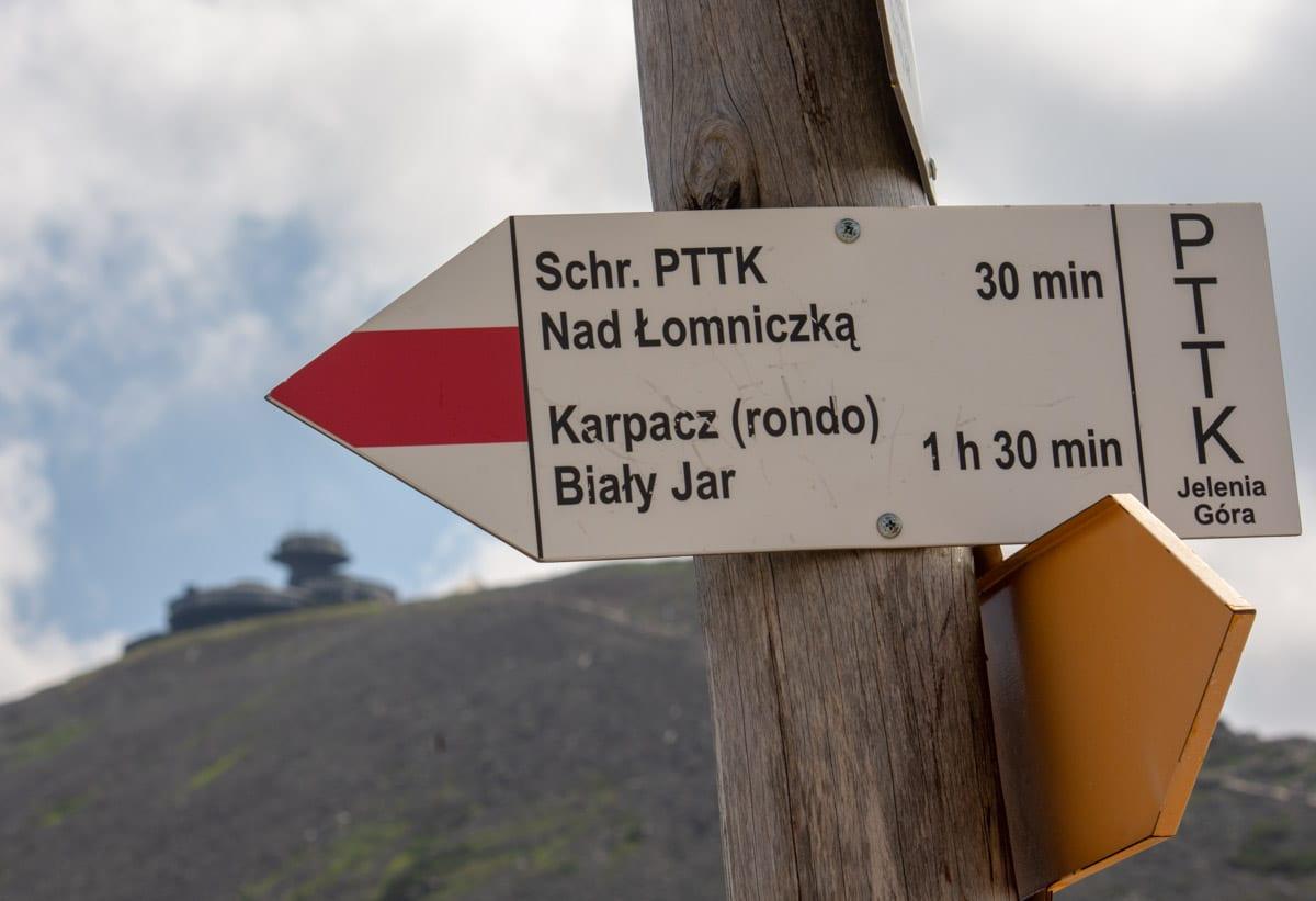 Czerwony szlak nad Łomniczką