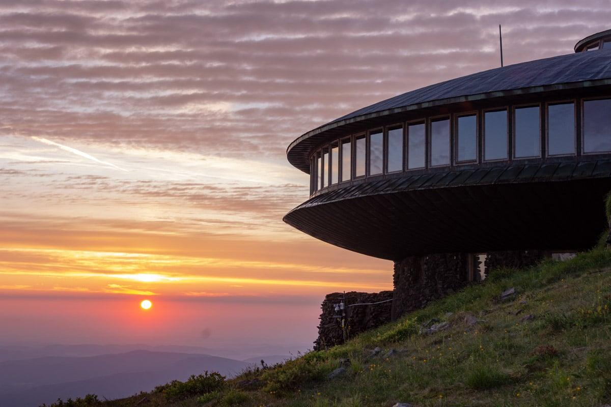 Obserwatorium na Śnieżce - wschód Słońca