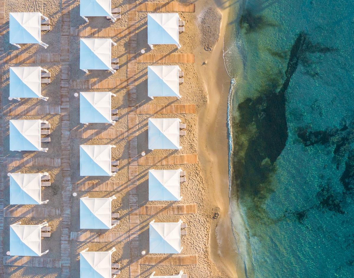Kreta - plaża z drona