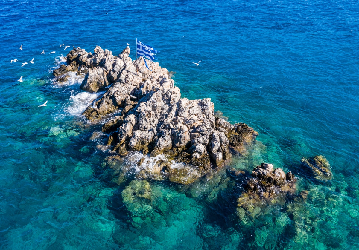 Kreta z dronem