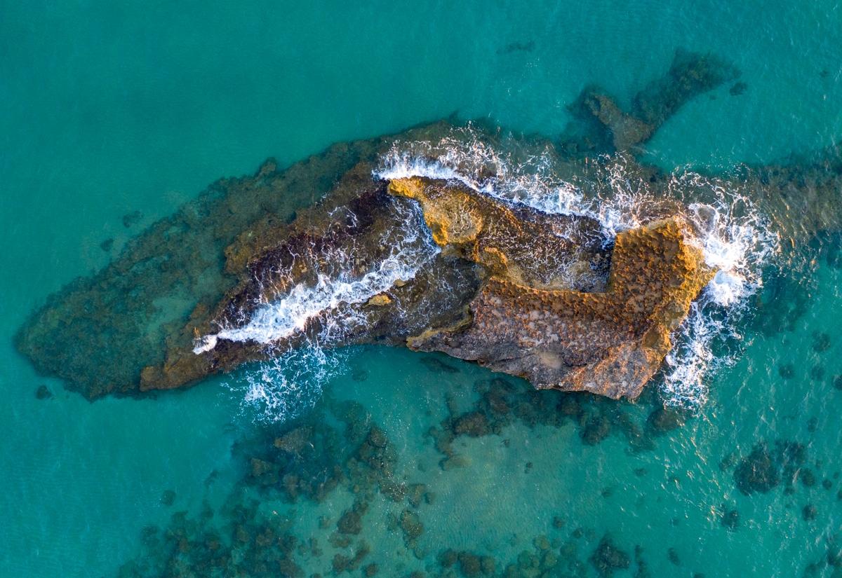 Wybrzeże Krety z drona