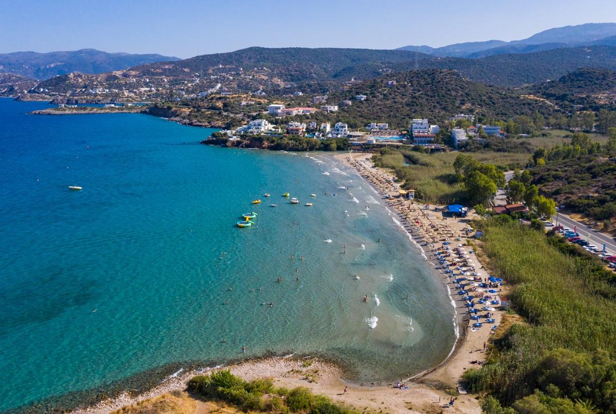 Plaże na Krecie z drona
