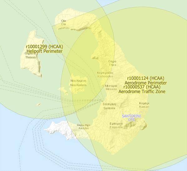 Latanie dronem na Santorini