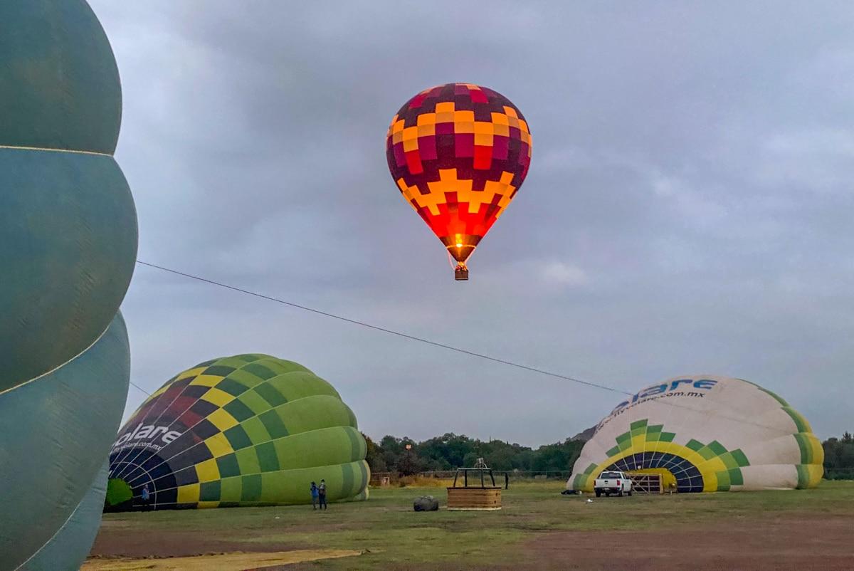 Start balonów
