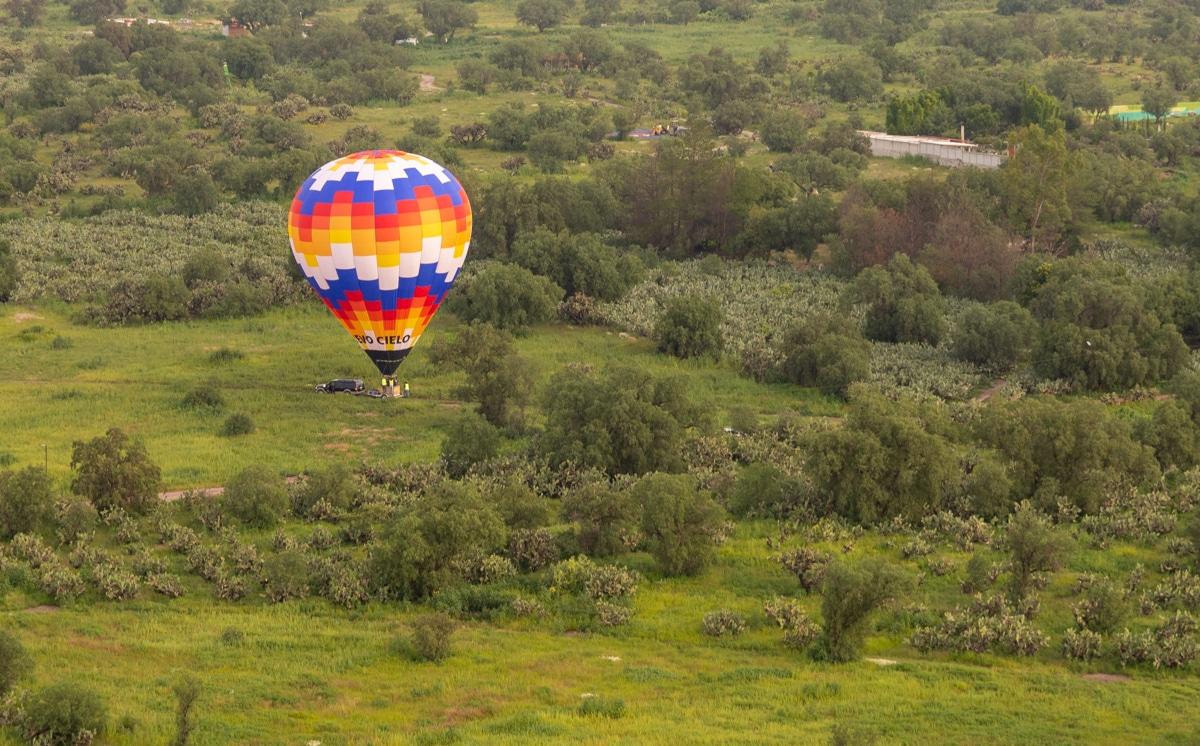 Balony nad Teotihuacán