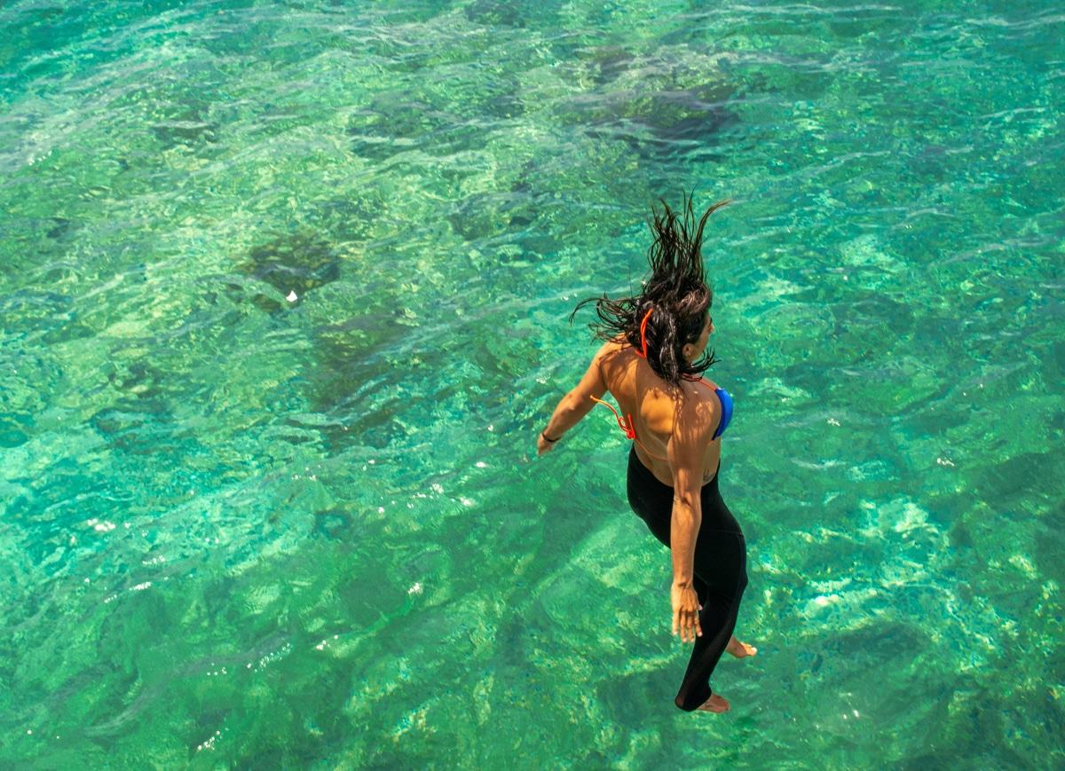Kąpiel w okoolicach Playa del Carmen
