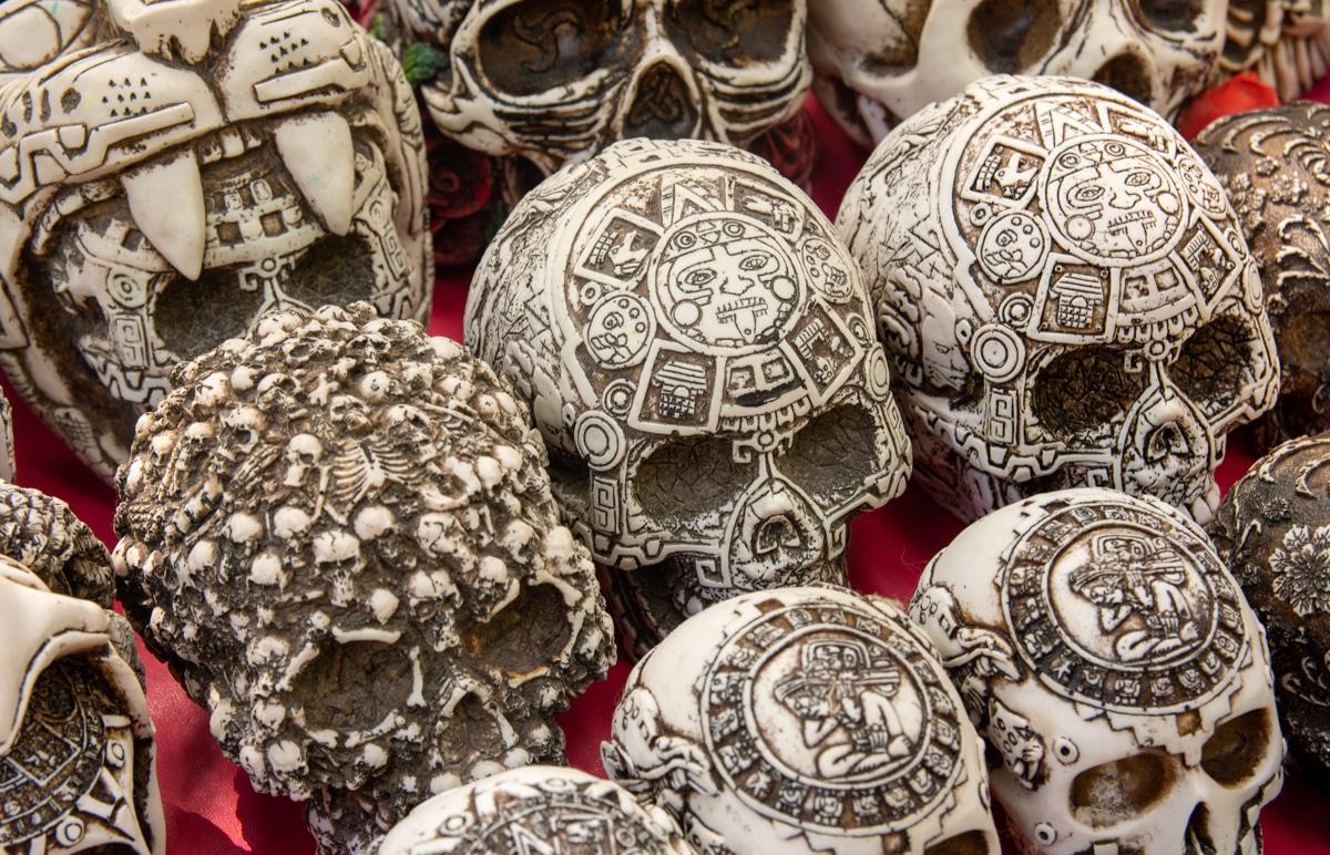 Czaszki w Chichén Itzá