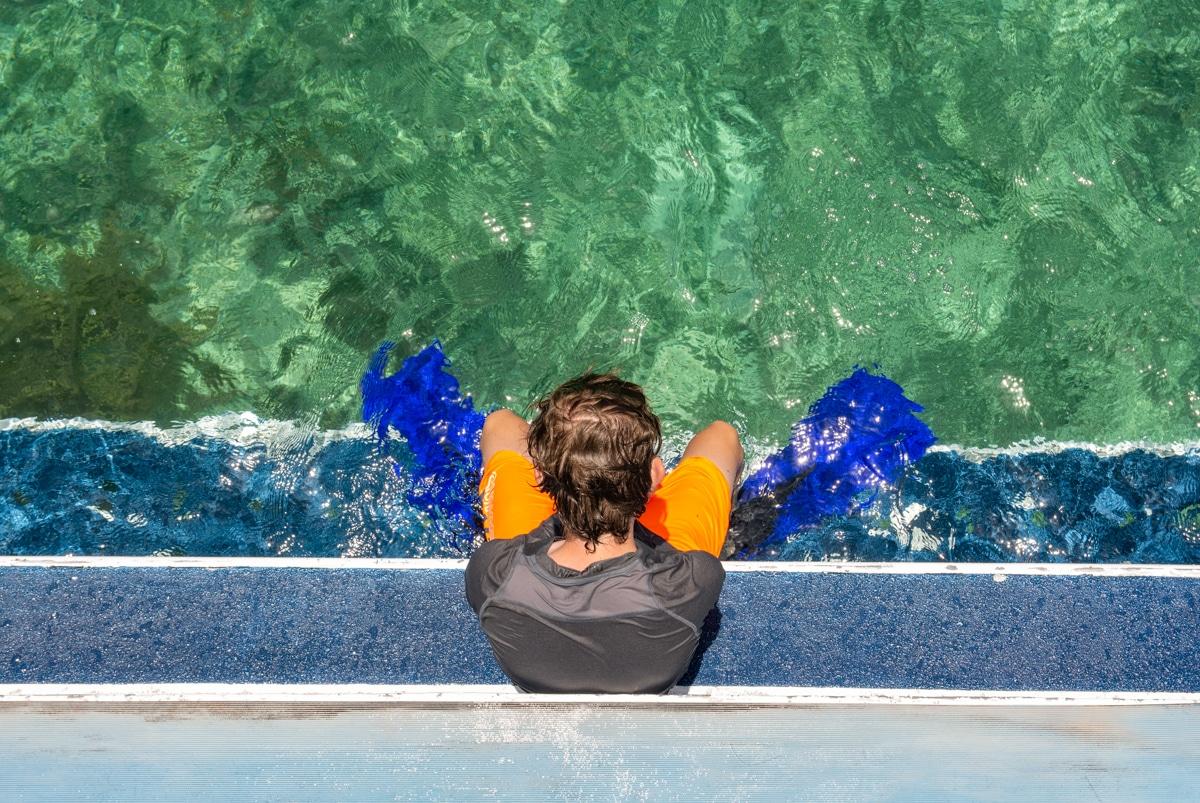Pływanie w Cancun
