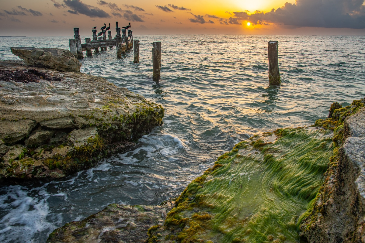 Wschód Słońca w Cancun