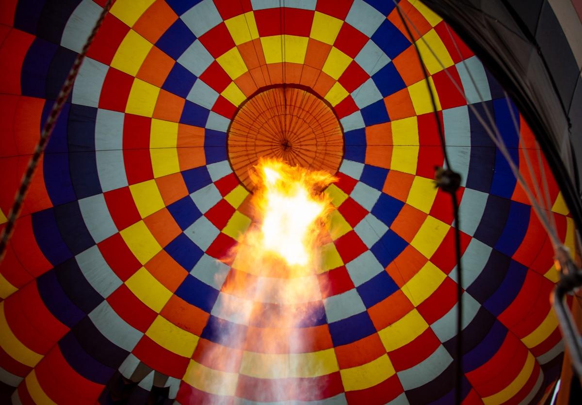 Wnętrze balonu