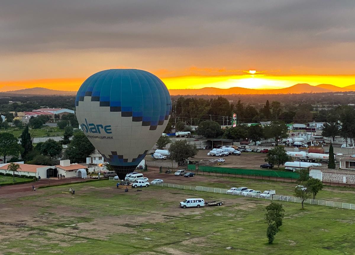 Start balonu w Meksyku