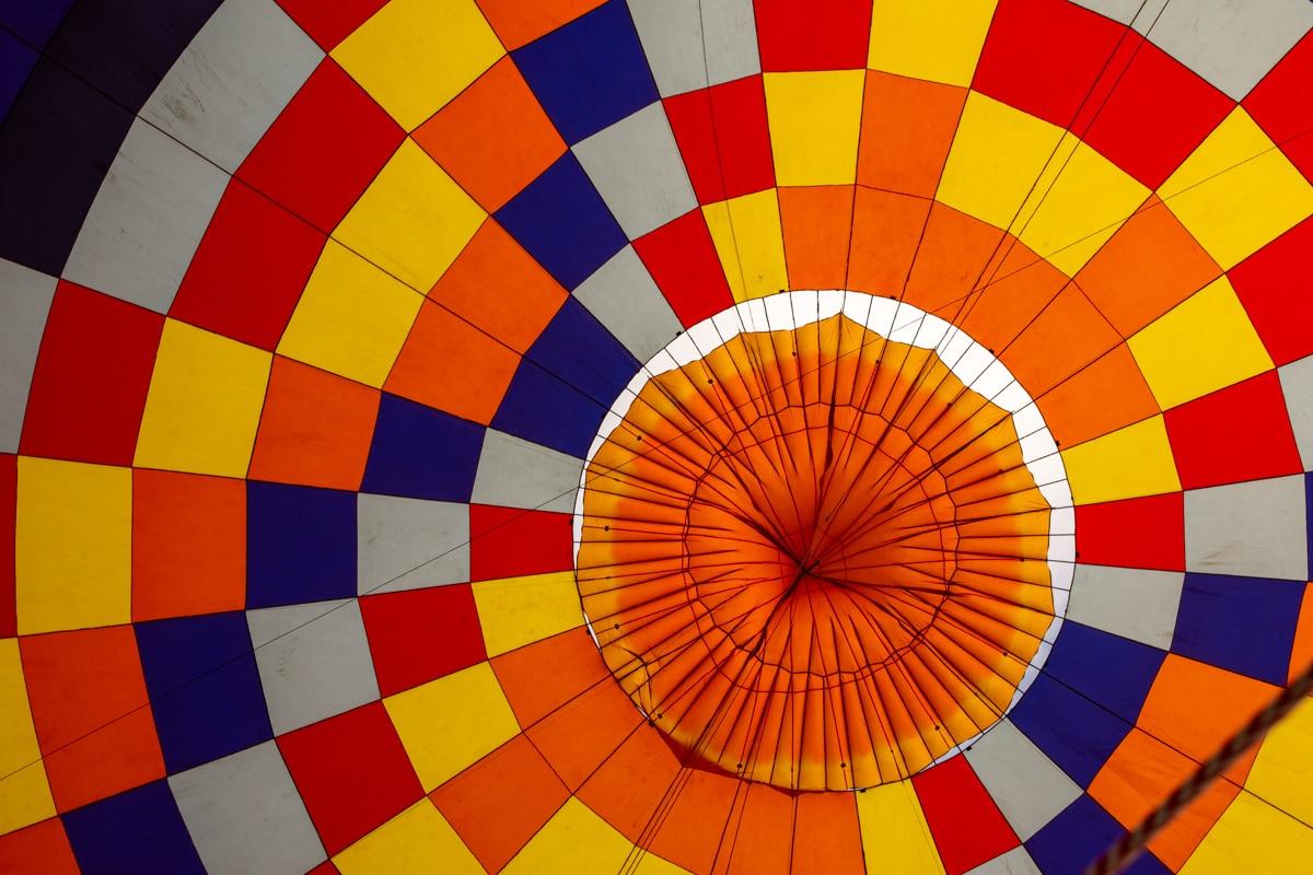Wnętrze powłoki balonu