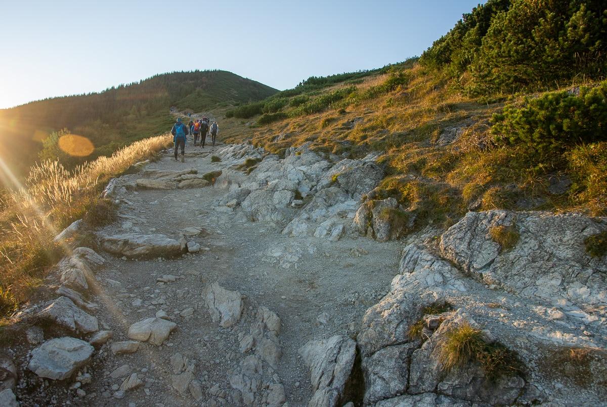 Szlak na Halę Gąsienicową przez Boczań